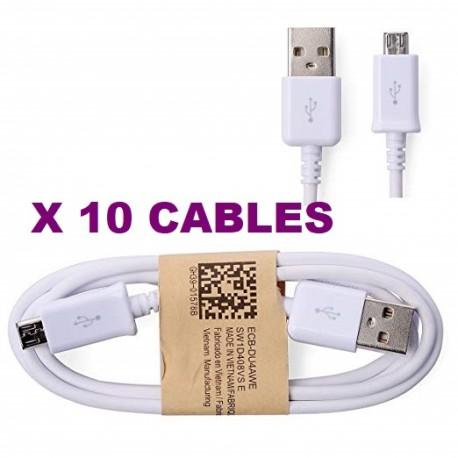 PACK DE 10 CABLES MICRO USB COMPATIBLES POUR CHARGER ET SINCHRONISER