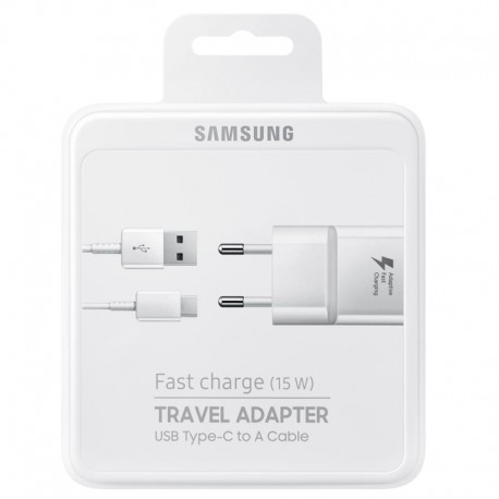 CHARGEUR FAST SAMSUNG 15W TYPE C BLANC