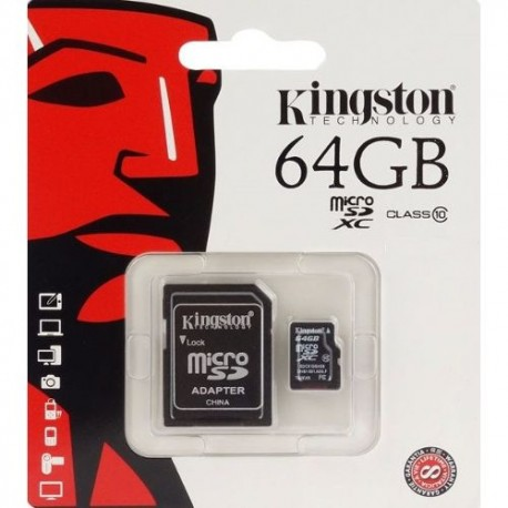 CARTE MICRO SD/SDHC KINGSTON 64GB