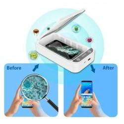 Boîte de stérilisateur de téléphone rechargeable par lumière UV USB, armoire de désinfection de désinfectant personnel de nettoy