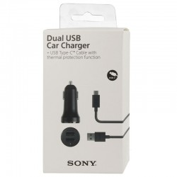 CHARGEUR VOITURE DOUBLE USB SONY