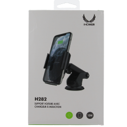 SUPPORT VOITURE AVEC CHARGEUR A INDUCTION