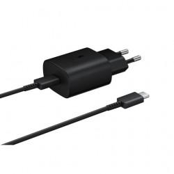 Chargeur secteur et Câble USB-C/USB-C - Noir