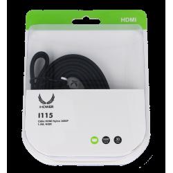 CÂBLE HDMI NYLON 1080P- 1,5M NOIR