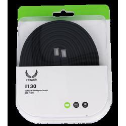CÂBLE HDMI NYLON 1080P- 3M NOIR-iHOWER