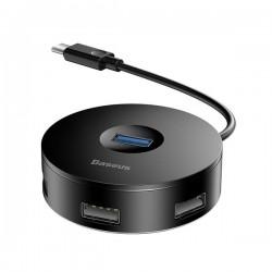 ADAPTATEUR HUB USB 3.0 4 PORTS + CÂBLE USB-C -Baseus