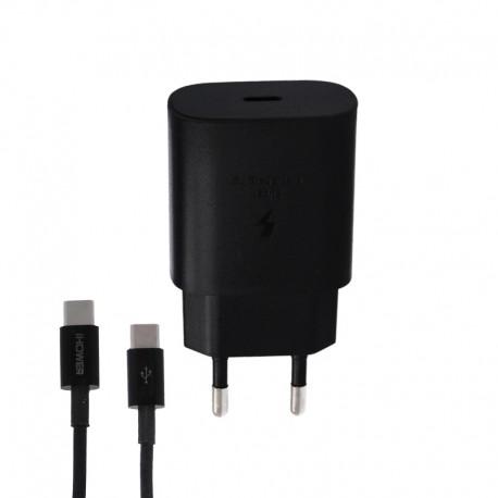 CHARGEUR PORT USB-C 25 + CABLE USB-C 1.2M