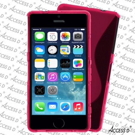 SILICONE S IPHONE 5/5S ROSE