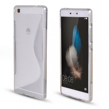 SILICONE S HUAWEI P8 BLANC TRANSPARENT