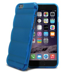 SILICONE MATELASSE BLEU POUR IPHONE 4/4S