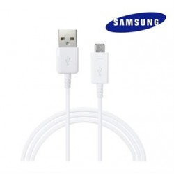CABLE DATA SAMSUNG BLANC ORIGINAL 1M MICRO USB ECB-DU4AWE