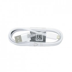 CABLE DATA SAMSUNG BLANC 1.5M ORIGINAL MICRO USB ECB-DU4EBE