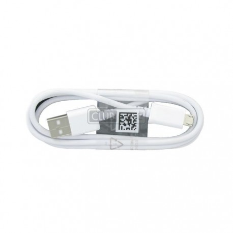 CABLE DATA SAMSUNG BLANC 1.5M ORIGINAL MICRO USB ECB-DU4EBE