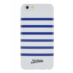 COQUE JEAN-PAUL GAULTIER IP6 PLUS MARINIERE BLANC / NAVY