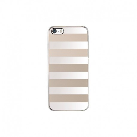 Coque Qdos rayée champagne et argent pour iPhone 5/5S