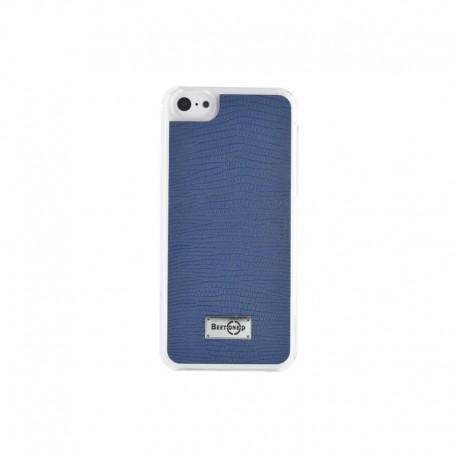 Coque rigide finition serpent bleue pour iPhone 5/5S/5C