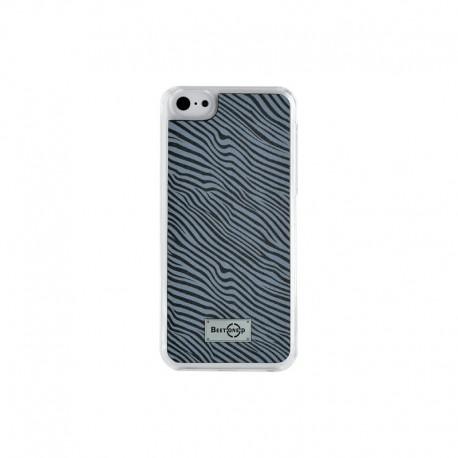 Coque rigide effet zébré gris pour iPhone 5/5S/5C