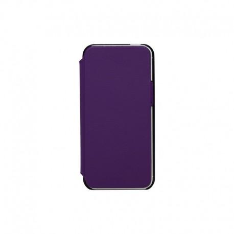Etui coque folio made in France violet pour iPhone 5/5S