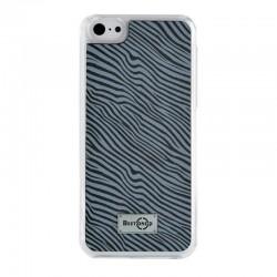 Coque rigide effet zébré gris pour iPhone 4/4S