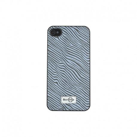 Coque rigide effet zébré noir et blanc pour iPhone 4/4S