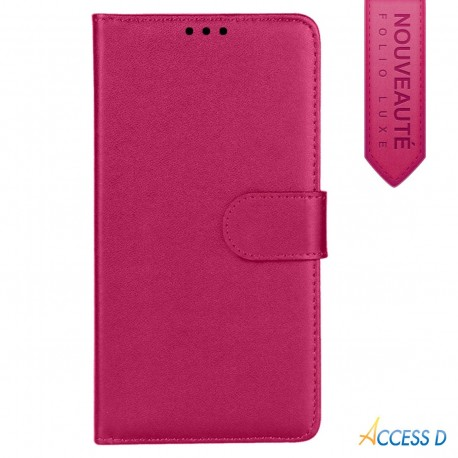 Folio Rose pour Wiko RAINBOW LIGHT