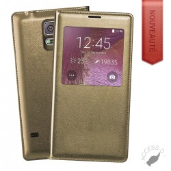 FLIP COVER POUR SAMSUNG S6 EDGE GOLD