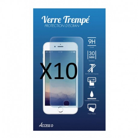 PACK 10 X VERRE TREMPE IPHONE 5/5S