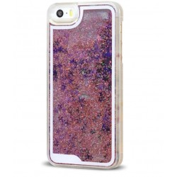 COQUE PAILLETTES IPHONE 5/5S/5SE ROSE