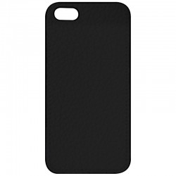 COQUE IPHONE 5,5S,SE ASPECT CUIR NOIR