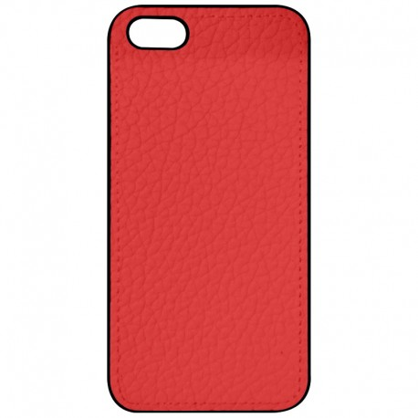 COQUE IPHONE 5,5S,SE ASPECT CUIR ROUGE