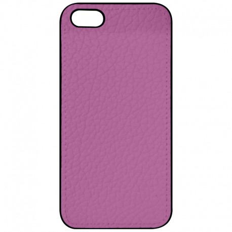 COQUE IPHONE 5,5S,SE ASPECT CUIR ROSE