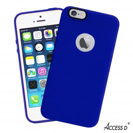 SILICONE IPHONE 5,5S,SE LINE SERIE BLEU