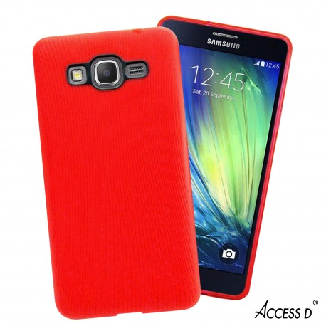 SILICONE SAMSUNG A5 LINE SERIE ROUGE
