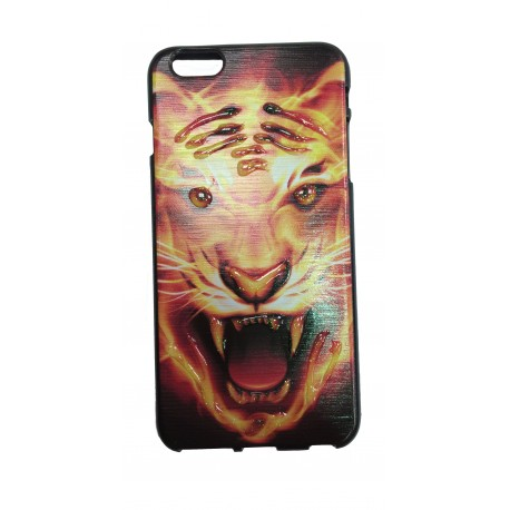 COQUE IPHONE 6/6S MOTIF TIGRE RELIEF
