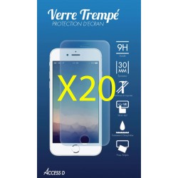 PACK 20 VERRES TREMPES IPHONE 5-5S-SE