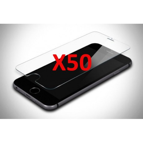 PACK 50 X VERRES TREMPES IPHONE 5/5S/5C/SE SANS BLISTER