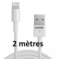 CABLE DATA COMPATIBLE IPHONE 5/5S/6/6+ 2METRES