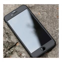 COQUE INTEGRALE NOIRE IPHONE 5/5S/SE AVEC VERRE TREMPE IP5 INCLUS