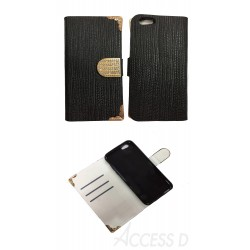 FOLIO STRASS IPHONE 6 ET 6S NOIR