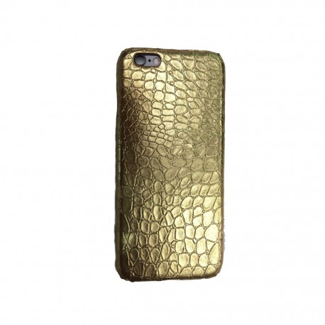 COQUES CROCO IPHONE 6 ET 6S GOLD