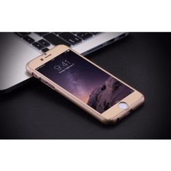 COQUE INTEGRALE GOLD IPHONE 6 AVEC VERRE TREMPE IP6 INCLUS