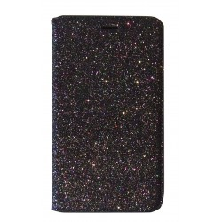 FOLIO IPHONE 5/5S/SE STRASS NOIR AUTOMATIQUE