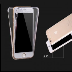 SILICONE IPHONE 5/5S RECTO VERSO TRANSPARENTE