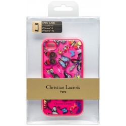 COQUE CHRISTIAN LACROIX IPHONE 4 ET 4S BUTTERFLY PINK