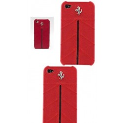 COQUE FERRARI IPHONE 4/4S CUIR ORIGINAL ROUGE