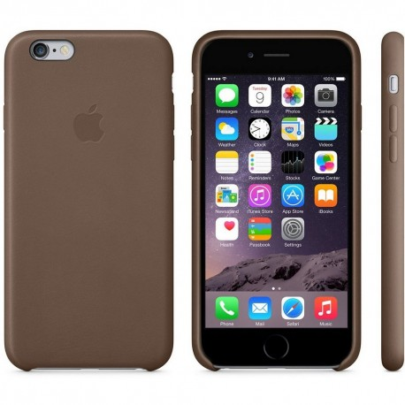 COQUE APPLE ORIGINALE IPHONE 6 CUIR NATUREL MARRON