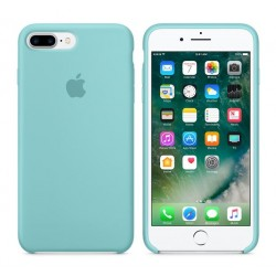 COQUE APPLE ORIGINALE IPHONE 7 CUIR NATUREL VERT D'EAU