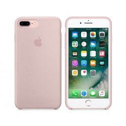 COQUE APPLE ORIGINALE IPHONE 7+ CUIR NATUREL ROSE