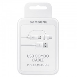 CABLE SAMSUNG OFFICIEL COMBO USB-C / MICRO USB
