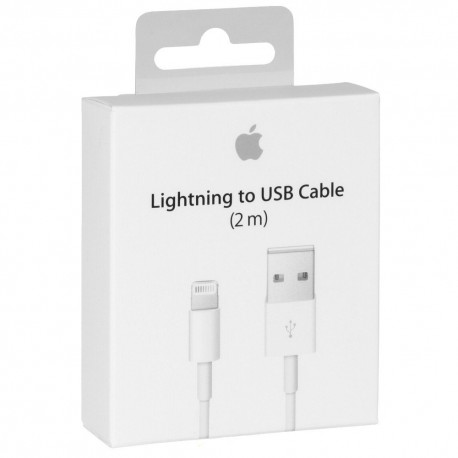 CABLE DATA APPLE LIGHTNING 2M IPHONE ORIGINE EN BOITE APPLE